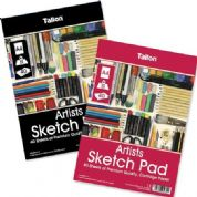 Tallon 40 Sheet A4 Spiral Bound Artist Sketch Drawing Pad 90gsm